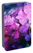 Purple Pink Painterliness Portable Battery Charger