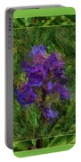 Purple Png Flower Portable Battery Charger