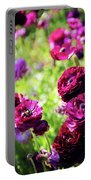 Purple Poppies Portable Battery Charger