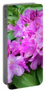 Purple Rhododendron Portable Battery Charger