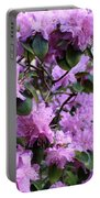Purple Rhododendrons Portable Battery Charger