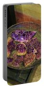 Purple Rocks Portable Battery Charger