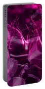 Purple Rose And Pansy Portable Battery Charger