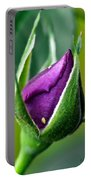 Purple Rose Bud Portable Battery Charger
