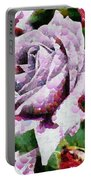 Purple Rose Painting Portable Battery Charger