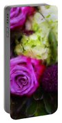 Purple Roses With Hydrangea Portable Battery Charger