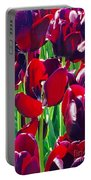 Purple Royals Tulips Portable Battery Charger