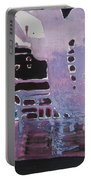 Purple Seascape Portable Battery Charger