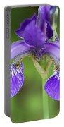 Purple Siberian Iris Portable Battery Charger