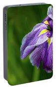 Purple Siberian Iris Flower Closeup Portable Battery Charger