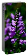 Purple Skullcap Bloom Portable Battery Charger
