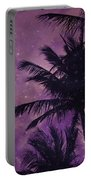 Purple Sky Palm Portable Battery Charger