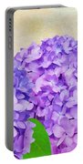 Purple Spring Hydrangeas Portable Battery Charger