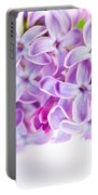 Purple Spring Lilac Flowers Blooming Portable Battery Charger