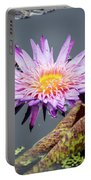 Purple Star Water Lily Portable Battery Charger