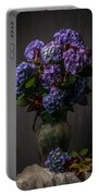 Purple Still Life Portable Battery Charger