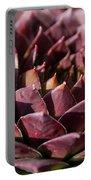Purple Succulent Portable Battery Charger