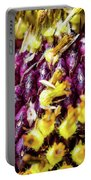 Purple Sunflower Seeds Portable Battery Charger