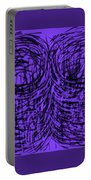Purple Swirls Portable Battery Charger