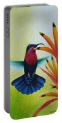 Purple-throated Carib And Bird Of Paradise Portable Battery Charger