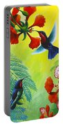 Purple-throated Caribs And Flamboyant Portable Battery Charger