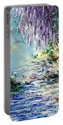 Purple Tree By The Lake Portable Battery Charger