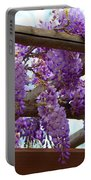 Purple Trellis Portable Battery Charger