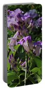 Purple Tropical Flower - Garlic Vine Portable Battery Charger