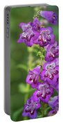Purple Trumpet Flowers  Portable Battery Charger