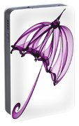 Purple Umbrella Portable Battery Charger