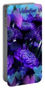 Purple  Valentine Portable Battery Charger