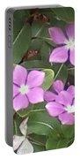Purple Vintas Flower Photograph Portable Battery Charger