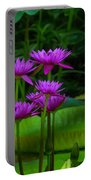 Purple Water Lilies Portable Battery Charger
