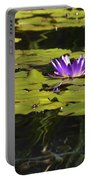 Purple Water Lilly Distortion Portable Battery Charger