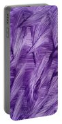 Purple Watercolor Art  Portable Battery Charger
