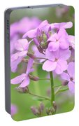 Purple Wildflowers Two Portable Battery Charger