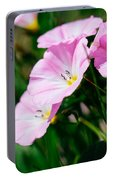 Purple Wildlfowers Portable Battery Charger