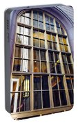 Chicago Golden Purple Window Panes Portable Battery Charger