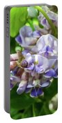 Purple Wisteria Portable Battery Charger
