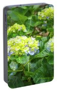 Purplea And Yellow Hydrangea Flowers Portable Battery Charger