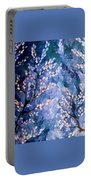Pussy Willow Abstract Portable Battery Charger
