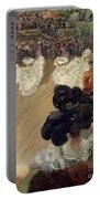Quadrille At The Bal Tabarin Portable Battery Charger by Abel-Truchet