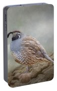 Quail On The Rocks Portable Battery Charger