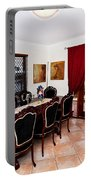 Quaint Dining Setting Portable Battery Charger