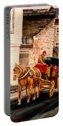 Quebec City Carriage Ride Portable Battery Charger