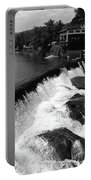 Quechee, Vermont - Falls 3 Bw Portable Battery Charger