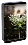 Queen Annes Lace And Sparkles At Dusk Portable Battery Charger