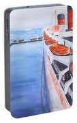 Queen Mary From The Bridge Portable Battery Charger