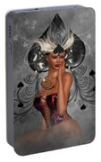 Queen Of Spades Portable Battery Charger