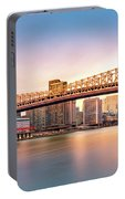 Queensboro Bridge At Sunset Portable Battery Charger